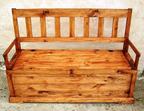 Banco arcon de madera 150 cm de ancho mueble comprar for Banco arcon madera