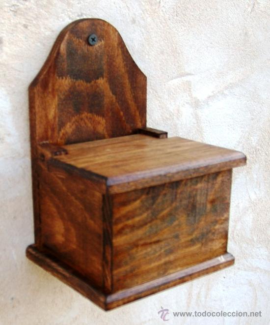 Salero de madera utensilio de cocina mue3 comprar for Utensilios de hogar