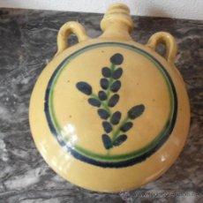 Antigüedades: BOTELLA DE CERAMICA, FIRMADA R G.. Lote 32166145