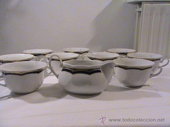 10 piezas de la vajilla de porcelana alemana de la colección Sttutgart. segunda mano