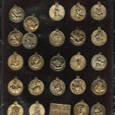 Antigüedades: .PRECIOSA COLECCION DE MEDALLAS Y PLACA DE LA SEMANA SANTA DE VALLADOLID COMPLETA . Lote 32201458
