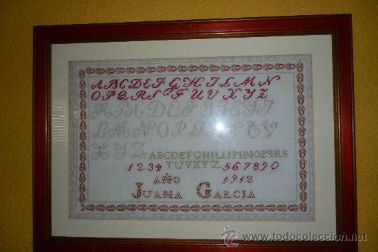 ABECEDARIO PUNTO DE CRUZ 1912 (Antigüedades - Hogar y Decoración - Otros)