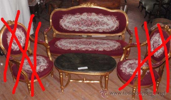 Antigüedades: sofa de 3 plazas y mesa . Estilo antiguo. - Foto 9 - 26029807