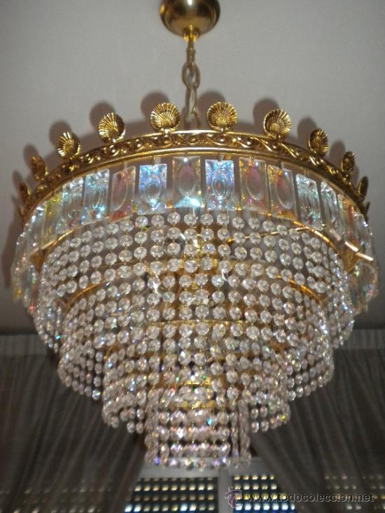 Preciosa lampara de lagrimas cristal de roca e comprar - Lamparas cristal antiguas ...