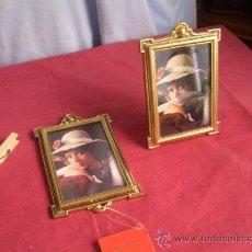 Antigüedades: JUEGO DE DOS PORTAFOTOS. Lote 32243523