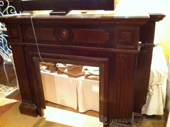 Antigua chimenea de madera comprar muebles auxiliares - Madera para chimenea ...