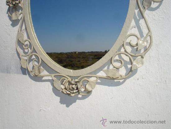 Antigüedades: espejo de hierro rustico - Foto 3 - 32273435