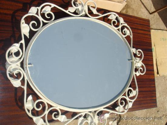 Antigüedades: espejo de hierro rustico - Foto 4 - 32273435