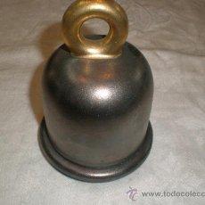 Antigüedades: ANTIGUO PORTAVELAS EN FORMA DE CAMPANA. Lote 32296395