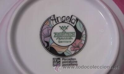 Antigüedades: Lote de 4 platos hondos cuadrados marca MITTERTEICH - BAVARIA GERMANY Modelo ANGELA. - Foto 4 - 32309322