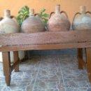 Antigüedades: ANTIGUA CANTARERA DE MADERA PARA CUATRO CANTAROS.. Lote 32319402