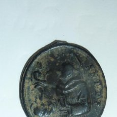 Antigüedades: MEDALLA DE SAN ANTONIO DE PADUA CON JESÚS NIÑO Y EL REVERSO LA DOMINICA SANTA ROSA DE LIMA. SG.XVIII. Lote 32324230