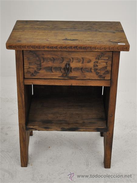 Mesita rustica madera de casta o comprar mesas antiguas en todocoleccion 32349916 Madera de castano