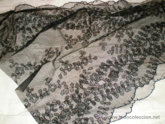 MANTILLA NEGRA ANTIGUA (Antigüedades - Moda - Mantillas)
