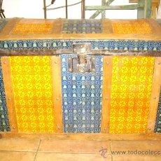 Antigüedades: BAUL METALICO. Lote 32373571