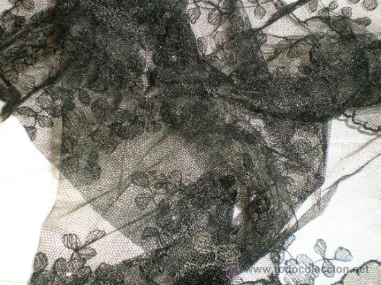 Antigüedades: MANTILLA NEGRA ANTIGUA - Foto 3 - 32371012