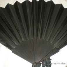 Antigüedades: ABANICO NEGRO DE LUTO. Lote 32385193