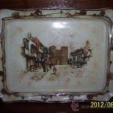 Antigüedades: ANTIGUO PLATO DE COLGAR PORCELANA INGLESA FIRMADO. Lote 32386961