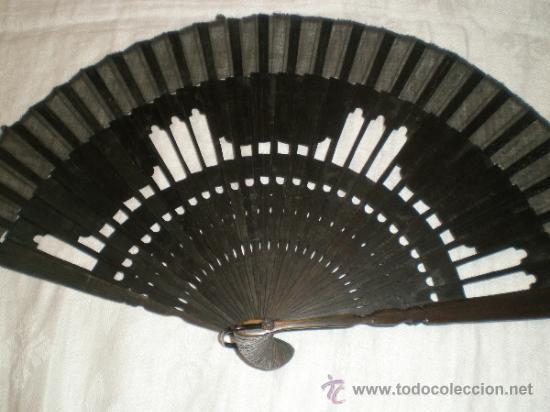 Antigüedades: abanico negro de luto - Foto 3 - 32385212
