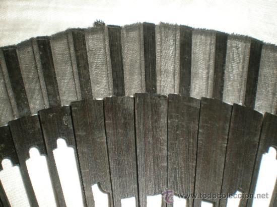 Antigüedades: abanico negro de luto - Foto 2 - 32385212