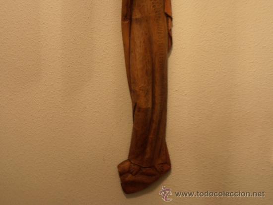 Antigüedades: TALLA DE VIRGEN EN MADERA DE 64 CM DE ALTO - Foto 3 - 32389140