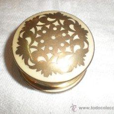 Antigüedades: PEQUENA CAJA DE METAL. Lote 32398017