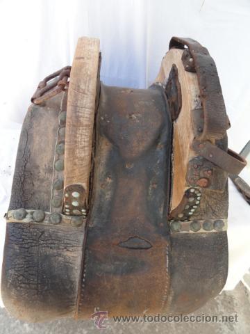 Antigüedades: ANTIGUA PROTECCION O PIEZA DE CARGA PARA MULA. - Foto 3 - 32394853