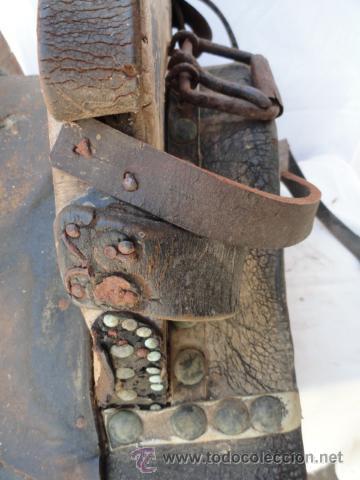 Antigüedades: ANTIGUA PROTECCION O PIEZA DE CARGA PARA MULA. - Foto 5 - 32394853