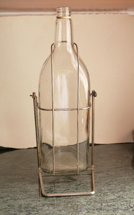 Antigüedades: Botella de 5 litros con pie - Foto 3 - 32411663