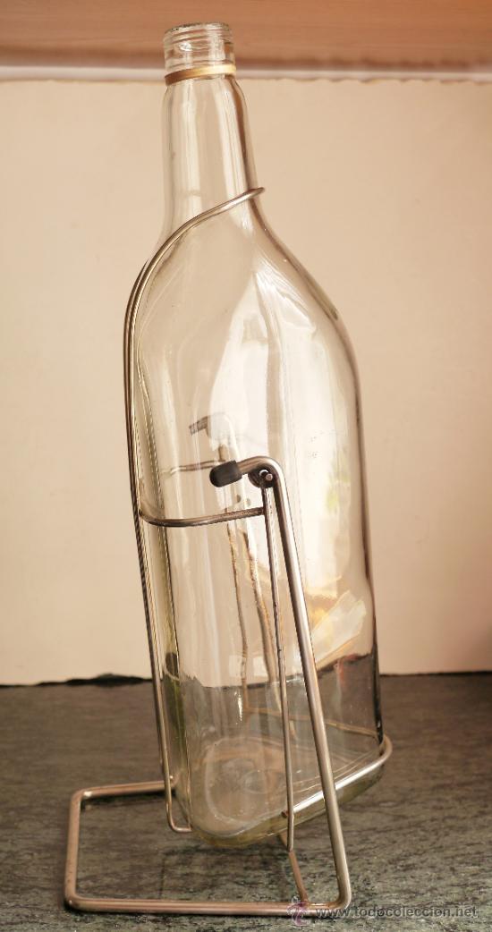 Antigüedades: Botella de 5 litros con pie - Foto 2 - 32411663