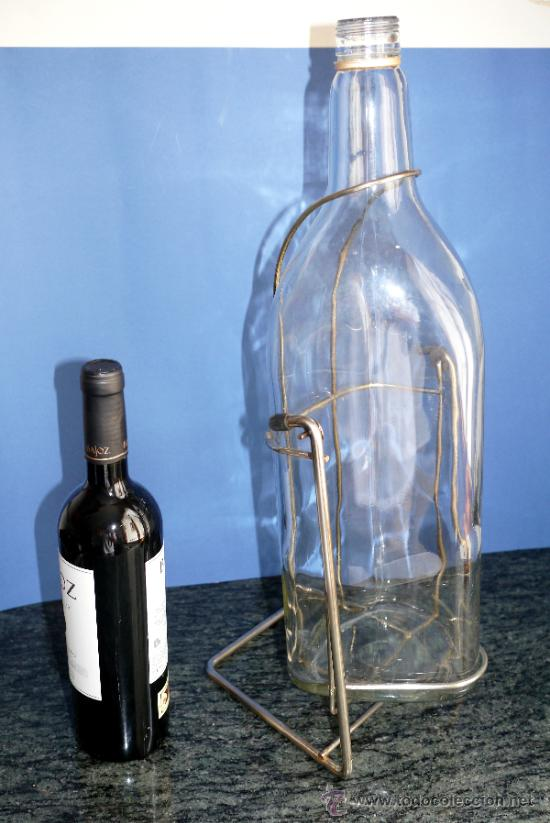 Antigüedades: Botella de 5 litros con pie - Foto 5 - 32411663