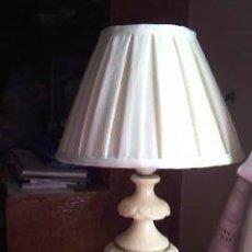 Antigüedades: PRECIOSA LAMPARA CON EL PIE DE ALABASTRO.. Lote 39455713