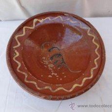 Antigüedades: ANTIGUO PLATO DE CERÁMICA, POPULARMENTE PLATO DE COLES.. Lote 32452297