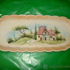 Antigüedades: BANDEJA PORCELANA PINTADA. Lote 32452520
