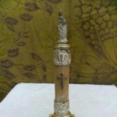 Antigüedades: VIRGEN DEL PILAR SOBRE PEANA DE MARMOL. Lote 32452995