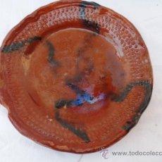 Antigüedades: ANTIGUO PLATO DE CERÁMICA, POPULARMENTE PLATO DE COLES.. Lote 32461872