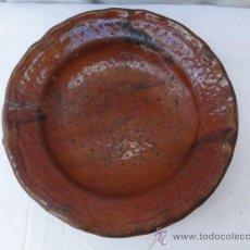 Antigüedades: ANTIGUO PLATO DE CERÁMICA, POPULARMENTE PLATO DE COLES.. Lote 32461903