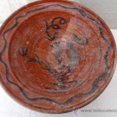 Antigüedades: ANTIGUA PLATA O FUENTE DE CERÁMICA, POPULARMENTE PLATO DE COLES.. Lote 32462166