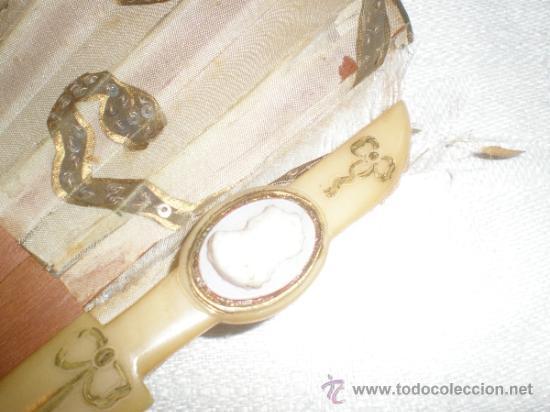 Antigüedades: abanico madera y seda - Foto 5 - 32452277