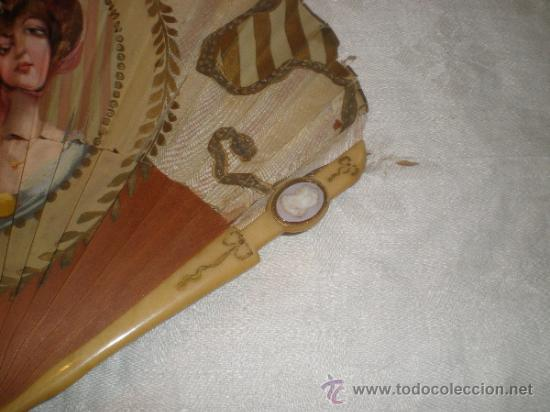 Antigüedades: abanico madera y seda - Foto 4 - 32452277