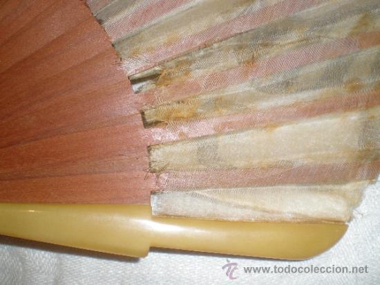 Antigüedades: abanico madera y seda - Foto 7 - 32452277
