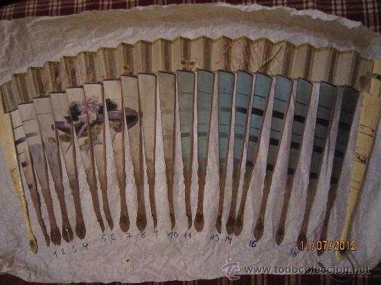 Antigüedades: ABANICO DAMA CON SOMBRERO DE FINALES DEL SIGLO XIX. - Foto 10 - 27271744