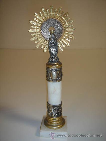 Antigüedades: virgen del pilar de zaragoza - Foto 3 - 32488910