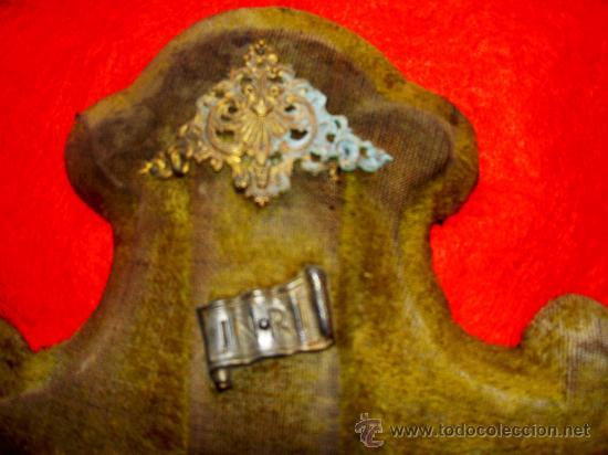 Antigüedades: CRUCIFIJO BENDITERA TERCIOPELO - Foto 3 - 32522287