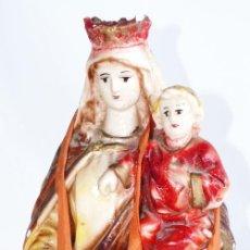 Antigüedades: PRECIOSA GRAN VIRGEN DEL CARMEN CON NIÑO JESUS S.XIX CON ESCAPULARIO. Lote 32525213