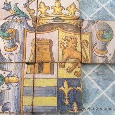 Antiquités: ESCUDO EN AZULEJO SIGLO XIX O XX. Lote 32531337