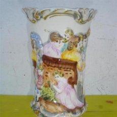 Antigüedades: JARRON DE CERAMICA CON FIGURAS. Lote 32547026
