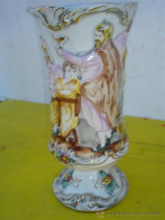 Antigüedades: jarron de ceramica con figuras - Foto 3 - 32547026