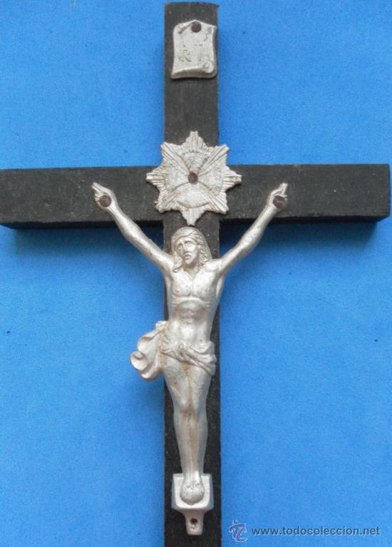 Antigüedades: Antiguo crucifijo. - Foto 4 - 32550530