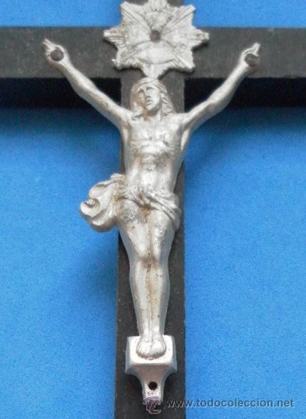 Antigüedades: Antiguo crucifijo. - Foto 3 - 32550530